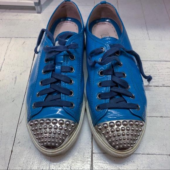 f1636db460c0 Miu Miu studded cap toe sneakers. M 5ae7dff52c705d578bace291